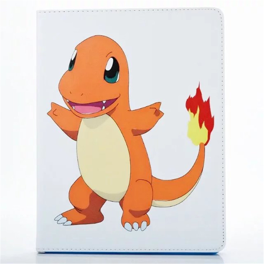Back Cover For iPad Mini 1 2 3 Cute 3D Japen Cartoon Pocket Monsters Series Flip Stand Leather Smart Case Cover Free Shipping