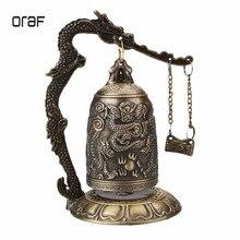 Статуя Будды буддизм латунная китайская статуя Резная Статуя Дракона Статуя лотоса Будды колокольчик с драконом бронзовые буддийские колокольчики Artware