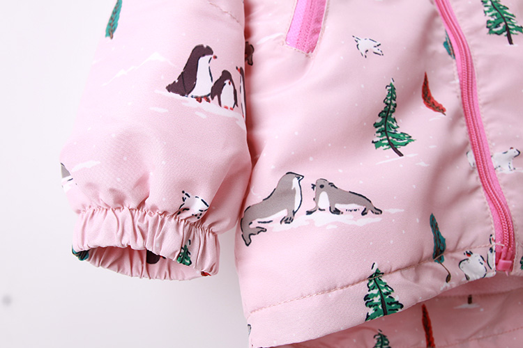 hoodies para meninas 2y 9y estampa animal