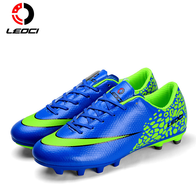 LEOCI Unisex Adult Mens Authentic Football Training Shoes 39-44 FG Firm Ground Soccer Shoes Outdoor Lawn Football Boots kelme official mens soccer jerseys soccer training suits paintless football jerseys custom football kits uniforms soccer set 63