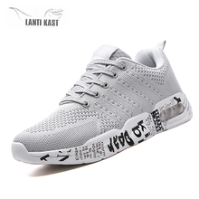 New Mesh Summer Men Casual Sports Shoes Air Cushion Lace-up Men Running Shoes Light Comfortable Breathable Walking Sneakers Men цены онлайн