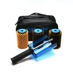 XCMAN Ski Roto Pinsel Kit Roto Pinsel Controller Griff mit alle 3 Pinsel: Nylon, Rosshaar, messing/Kork