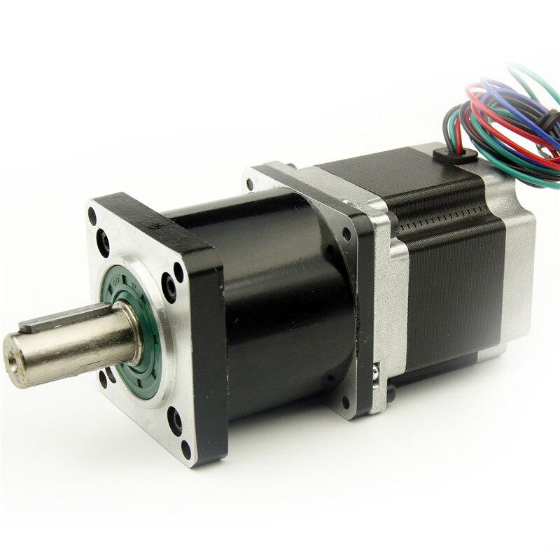 Nema23 шаговый двигатель с планетарным редуктором 4:1/5:1/10:1/16:1/20:1/25:1/40: 1/50: 1/100: 1 Редуктор побед Двигатель Длина 56 мм 3A 4 провода