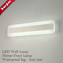 цена на Free shipping, Guaranteed 100% High Quality 7W 10w LED Mirror Front Wall Lights Modern Brief Bathroom LED Wall Lamp