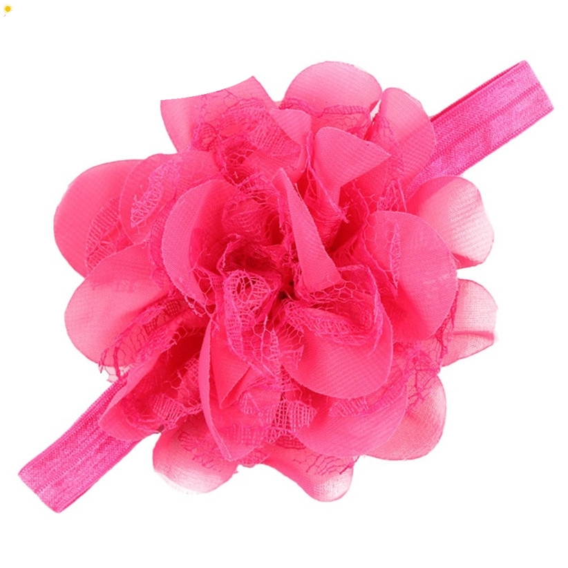 JAYCOSIN Headbands New Fashion Big Flower Children Girls Elastic Hair bands For Kids July22 Drop Shipping children wedding veil heardress with small pearls hair jewelry flower girls headbands hair bands accesorios para el pelo 85aa368