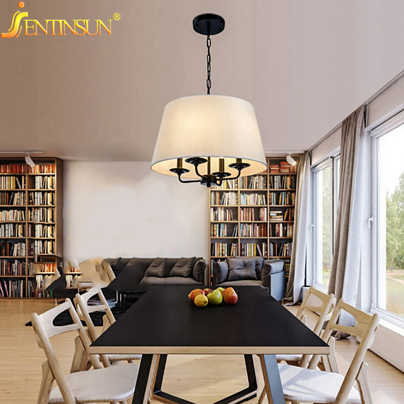 Nordic Hanglamp Style Pendant Lights Simple Iron Cloth Hanging Fixtures Light Lamp For Living Room Coffee Shop 3 Color Lighting