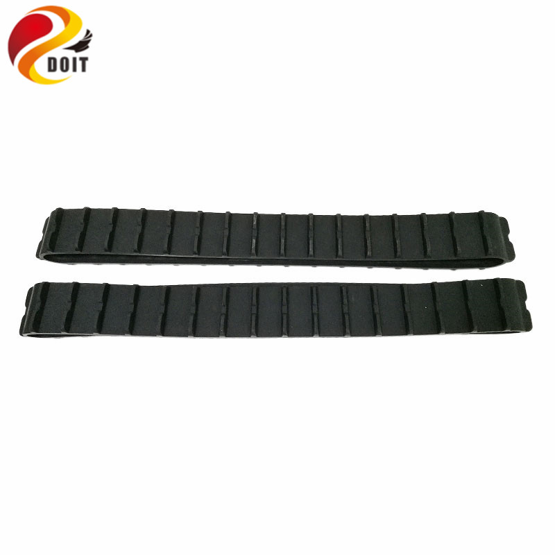 DOIT Rubber CarTrack For Robot Tank Car Chassis Pedrail Transmission Belt For Tractor Crawler Caterpillar Chain Tracked Wheel