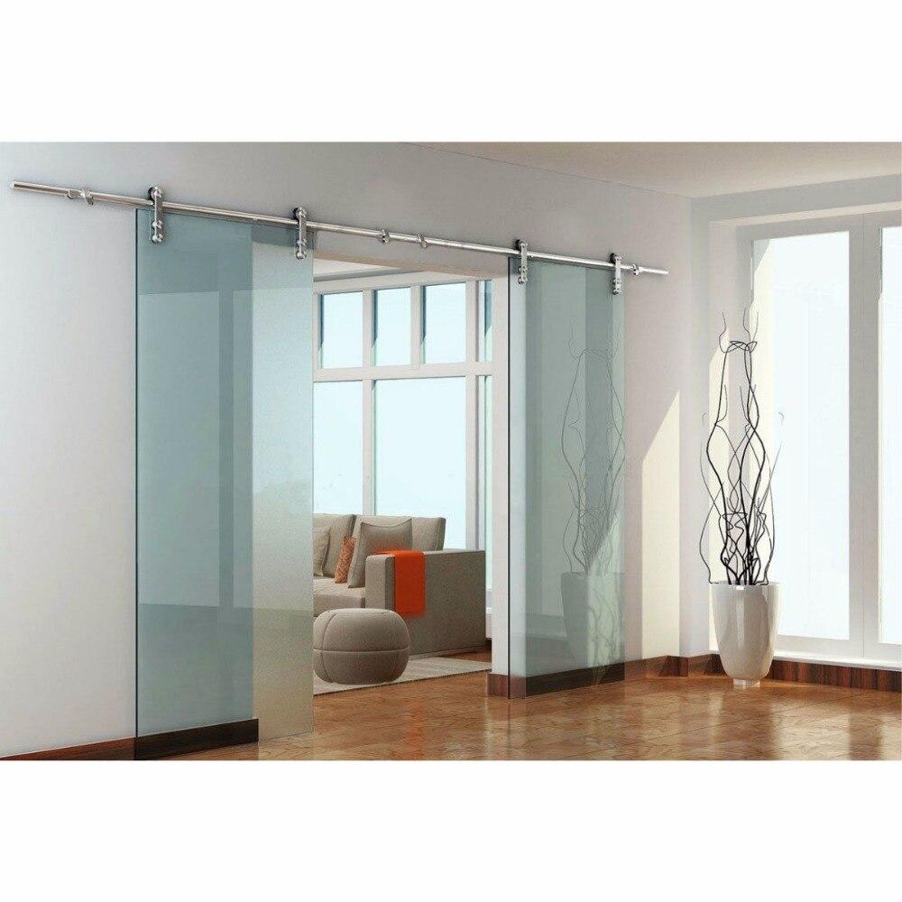 Glass Barn Sliding Doors: (USA Free Shipping ) 8ft / 10ft /12ft /13.2ft Double