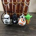 Dropshipping Star War Keychain Darth Vader Storm Trooper  Minifigure Keychain Star War Action Figures Toy Gift Llavero ZKSWMD