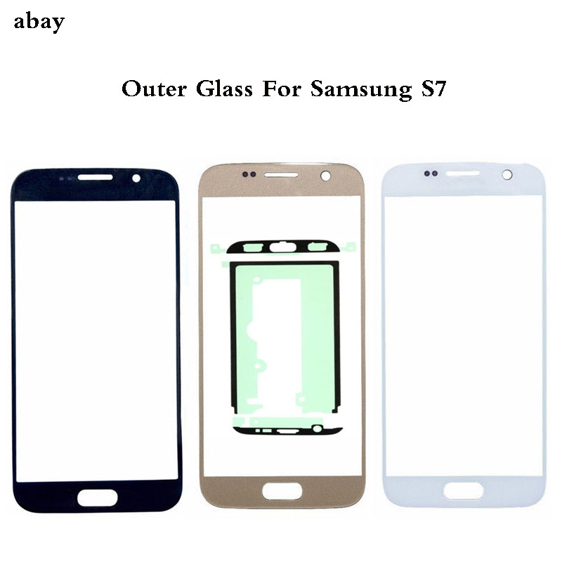 Replace Outer Glass For <font><b>samsung</b></font> <font><b>galaxy</b></font> <font><b>S7</b></font> G930 G930F Touch Screen Front Glass Outer <font><b>Lens</b></font> & Adhesive For <font><b>Samsung</b></font> <font><b>S7</b></font> Touch Glass image