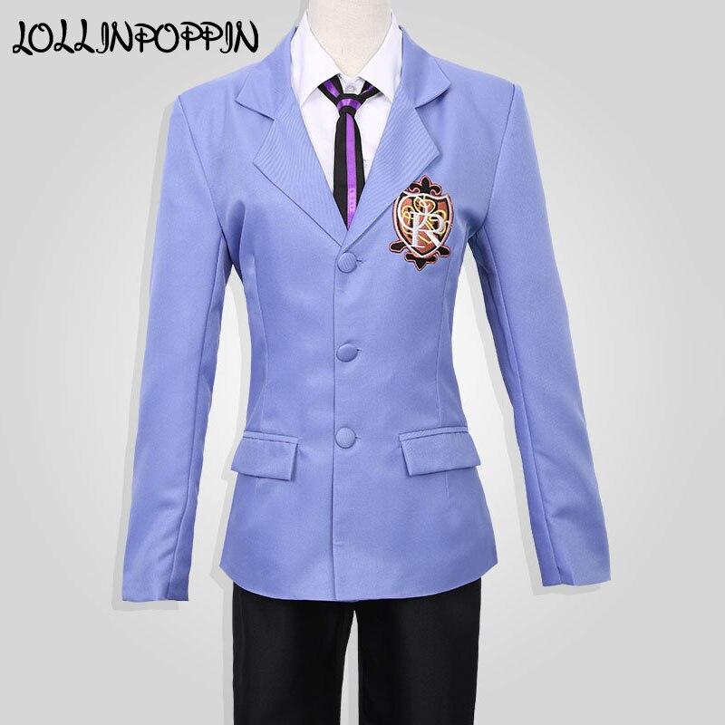 Ouran High School Host Club Cosplay Costumes Haruhi Fujioka Cosplay School Uniforms (Blazer + Shirt + Pants + Necktie) 2016 ouran high school host club mitsukuni haninoduka s rabbit anime cosplay plush toy 38cm