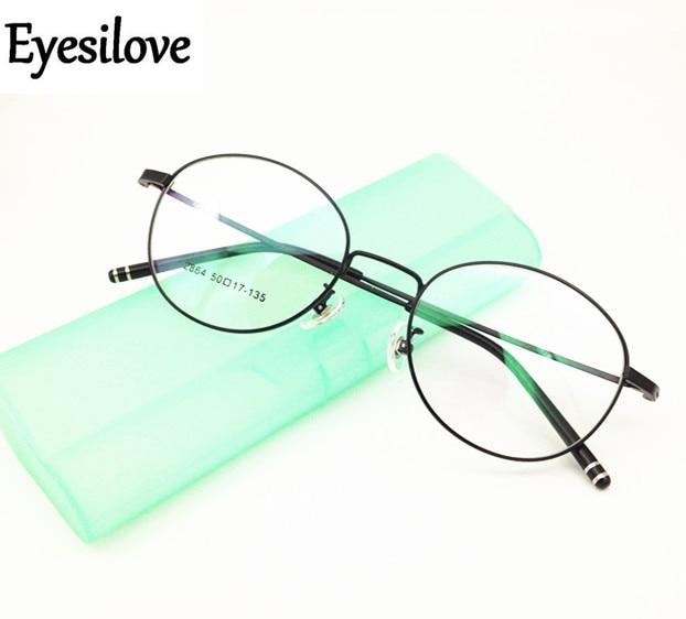 Eyesilove finished myopia glasses Nearsighted Glasses round lens shape frame short sight prescription glasses from -1.0 to -6.0