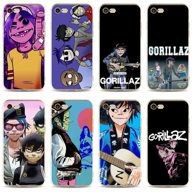 US $0 95 5% OFF Gorillaz Cover high quality Soft Silicone 2018 TPU Phone  Case For iPhone 5 5C 5S SE X 6 6S 6plus 7 7plus 8 8plus-in Fitted Cases  from