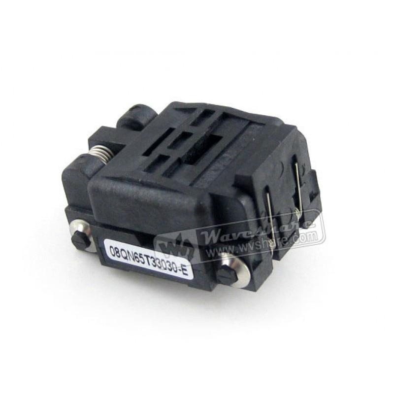 module QFN8 MLP8 MLF8 08QN65T33030 QFN Plastronics IC Test Socket Programming Adapter 2 Sides 3*3mm 0.65mm Pitch qfn8 to dip8 d mlf8 mlp8 plastronics qfn ic programming adapter test burn in socket 3 2 mm 0 5pitch free shipping