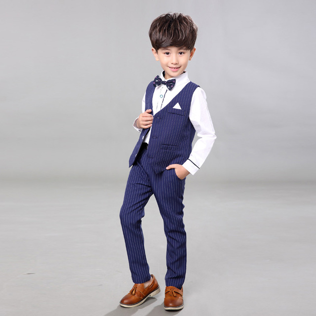 Korean Version of Spring Boys  Attire Wedding Suit Clothes Boys Suits Male  Child Formal Dress 7c5f804e26a4