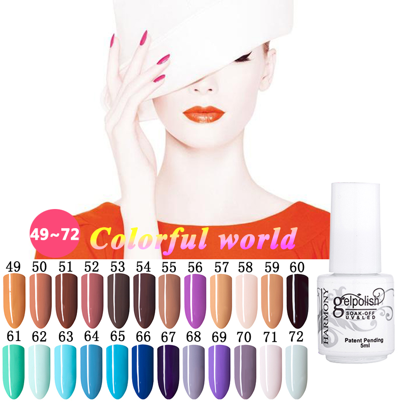 168 Pure Colors Gel Nail Varnish 5ml UV Gel Nail Polish Lamp Soak off Gel Polish Gel Lak Vernis Semi Permanent Gelpolish