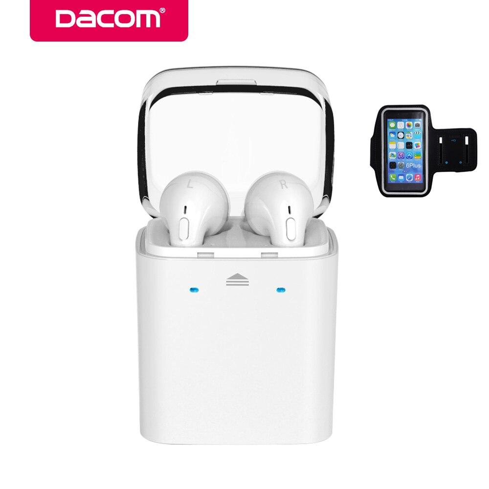 bilder für Dacom GF7tws schwarze ohrhörer telefon ohrhörer stereo headset drahtlose bluetooth kopfhörer für iphone 5 blutooth samsung airpods