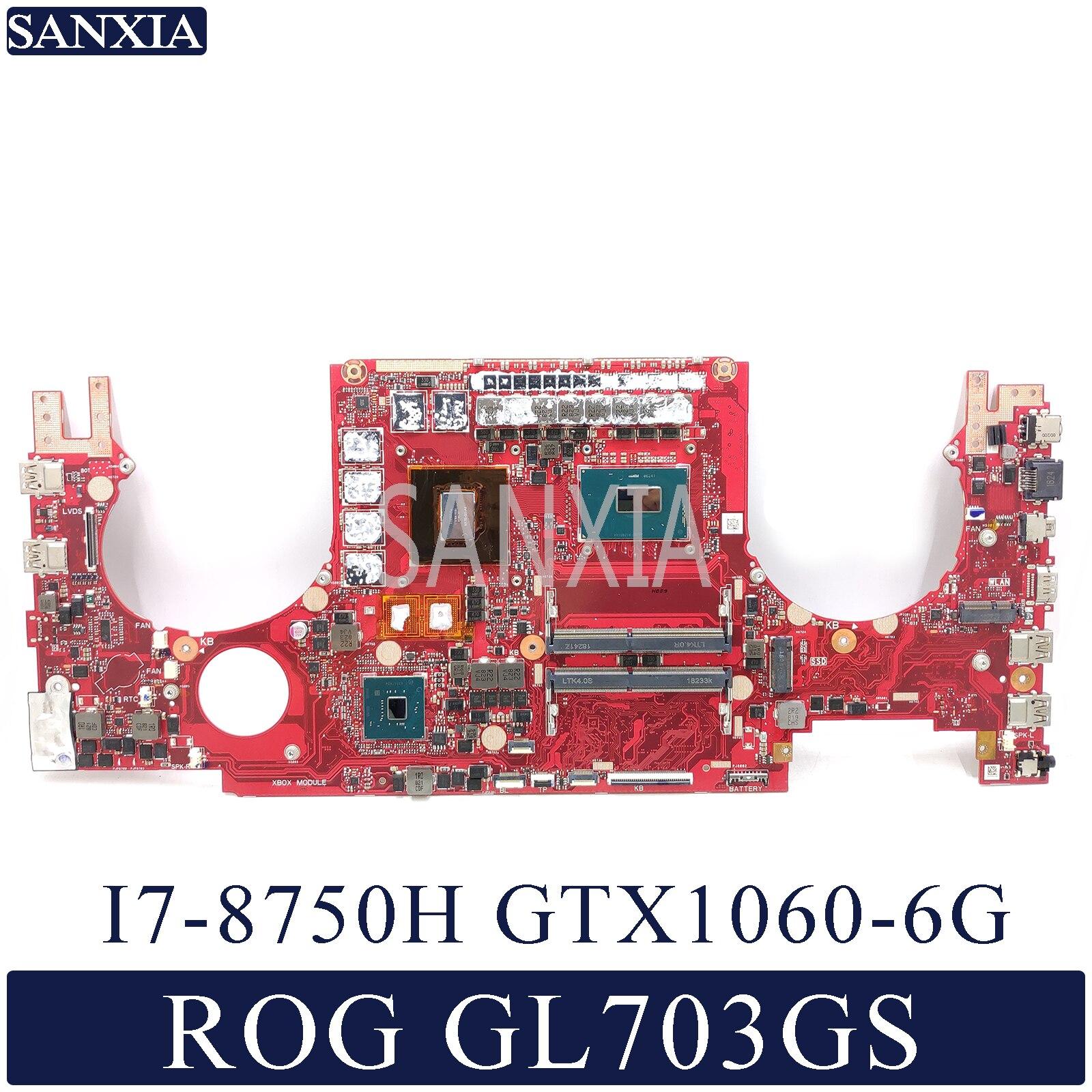 KEFU GL703GS Laptop motherboard for ASUS ROG Strix SCAR GL703GS S7BS original mainboard HM370 I7 8750H GTX1060 6G|Motherboards| |  - title=