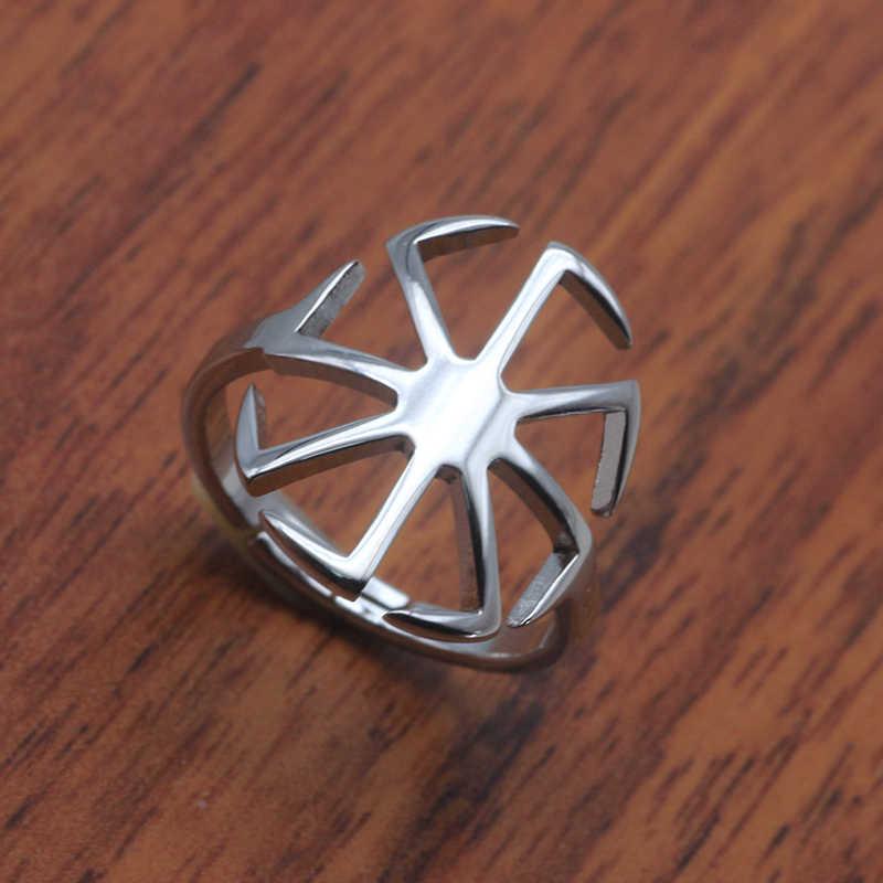 Уникальный геометрический дизайн Открытое кольцо от солнца ювелирные изделия из