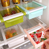 Ev ve Bahçe'ten Raflar ve Tutucular'de 1 adet Çevre Dostu Buzdolabı saklama kutusu mutfak rafı Buzdolabı Dondurucu Raf Tutucu Pull out Çekmece Organizatör Space Saver