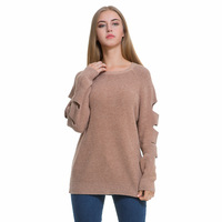 2017 NEW winter dress fashion women sweater knit dress explosion hole style knitted sweater dress