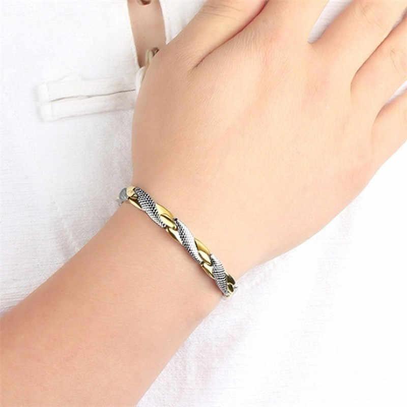 Wzór smoka Twisted zdrowa magnetyczna magnetyczna bransoletka dla kobiet magnesy terapii mocy bransoletki bransoletki dla kobiet mężczyzn