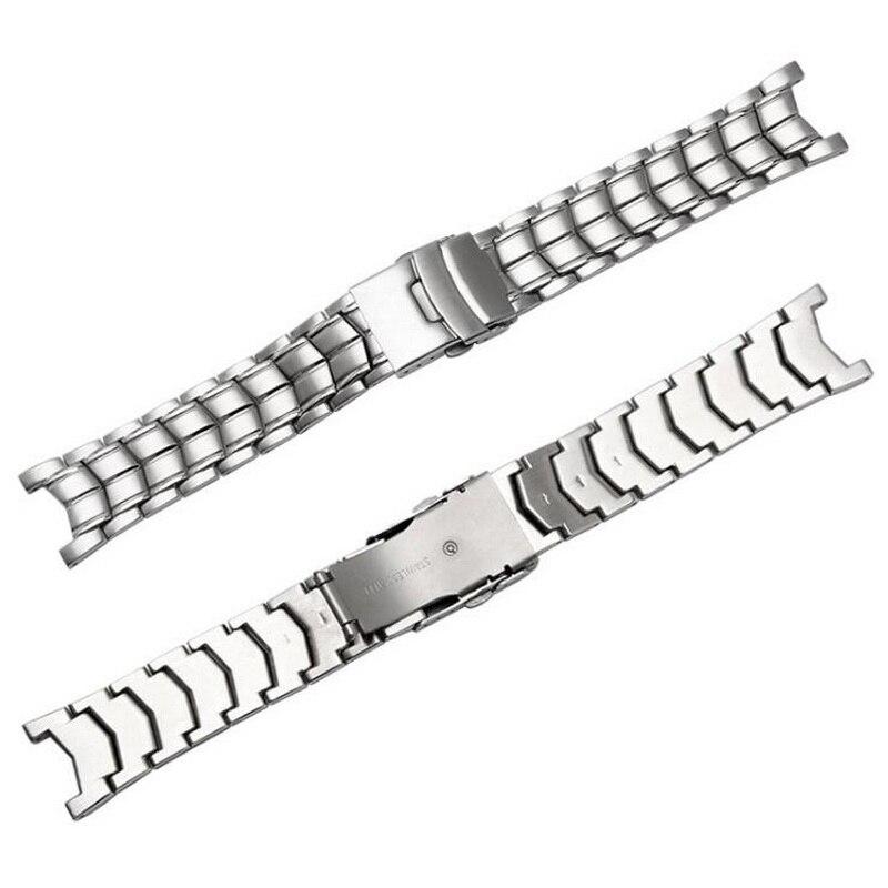 8e1f595d903a Neway de acero inoxidable cepillado de banda de reloj para CASIO edificio  EF 524 correa de