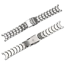 neway Brushed Stainless Steel Genuine Watch band For CASIO Edifice EF 524 Strap Bracelet Men Watchband Silver Safety Clasp