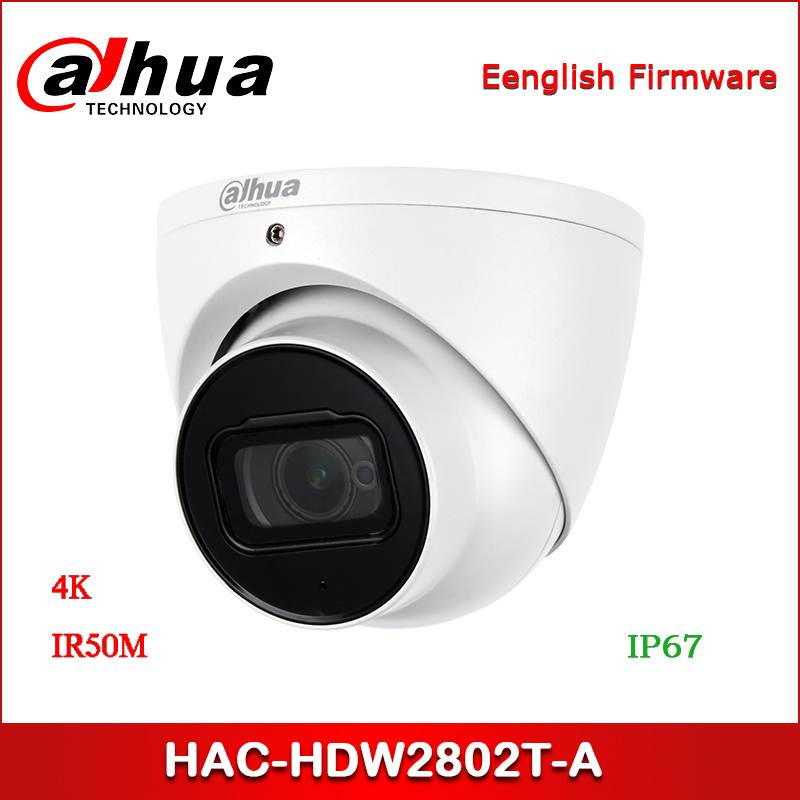 Dahua HAC-HDW2802T-A CCTV Camera 4K Starlight HDCVI IR Eyeball Camera