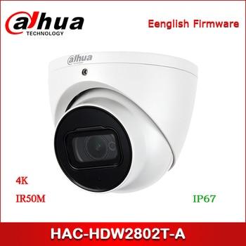 Dahua HAC-HDW2802T-A 4K Starlight HDCVI IR Dome CCTV Camera 8MP IR 50m built-in mic Analog Camera dahua 2x2mp starlight ir mini dome network camera ipc hdbw4231f e2 m built in mic ip67 ik10 original security ip camera no logo