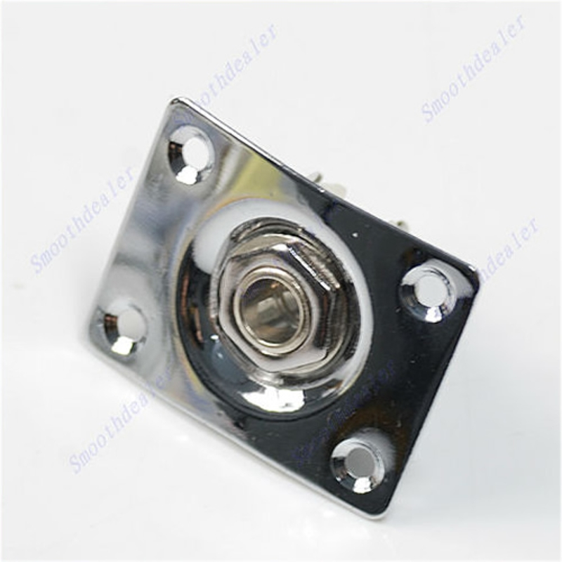 Купить с кэшбэком Guitar Jack Plate + Output Socket Chrome Rectangle For Gibson Epiphone