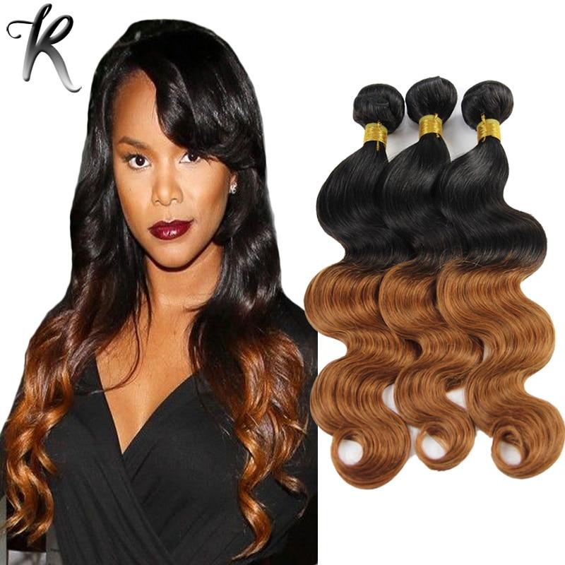 3pcs ombre hair extensions peruvian