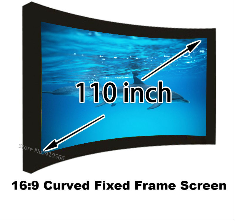 Great Image 3D Projection Screen 110 Inch DIY Embowed Fixed Frame Front Projector Screens 16:9 Format low price 92 inch flat fixed projector screen diy 4 black velevt frames 16 9 format projection for cinema theater office room