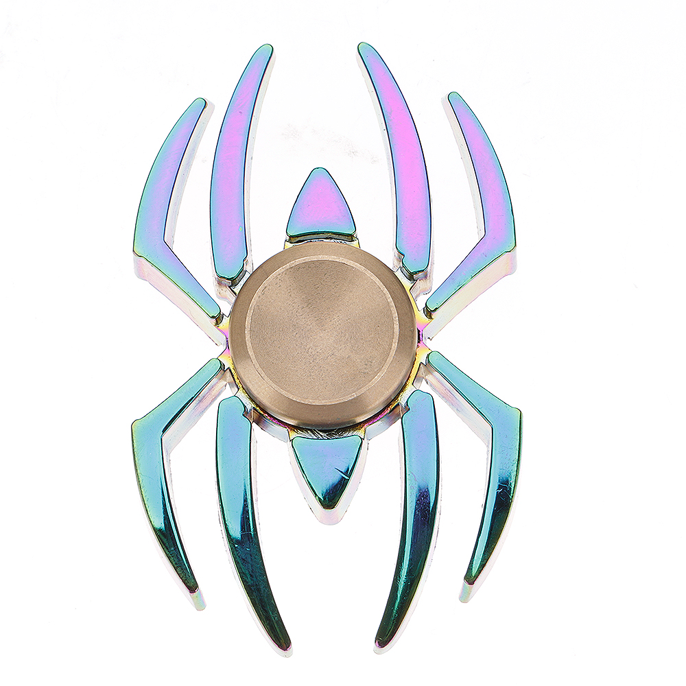 Rainbow Spider Fidget Hand Finger Spinner EDC Focus Toy Speed Bearing For Kids