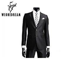 WEONEDREAM мужской деловой костюм куртки Slim Fit Custom Fit смокинг брендовые модные жениха мужская деловая одежда, костюм на свадьбу