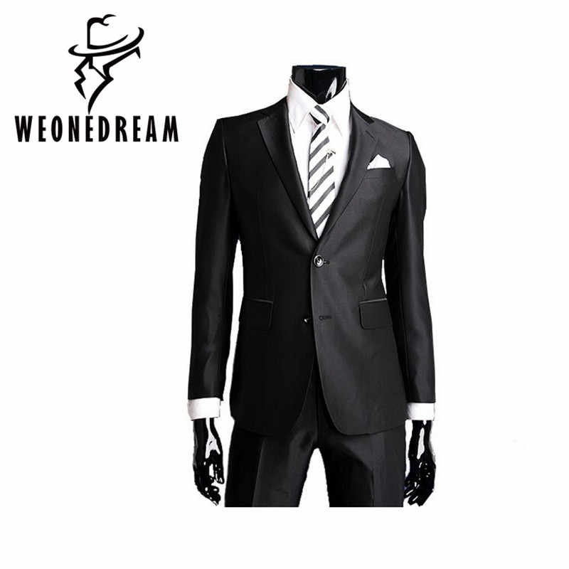 WEONEDREAM Mens Business Suit jackets Slim Fit Custom Fit Tuxedo Brand Fashion Bridegroom Men's Business Dress suit wedding