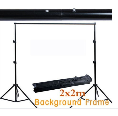 High Quality 6.5FT*6.5FT/2*2m Studio Professinal Photography Photo Backdrops Background Support System Stands + Carry Bag allenjoy 3 2 6m 10 8ft professional photo backdrops stand background support system 2 light stands 1 cross bar carry bag