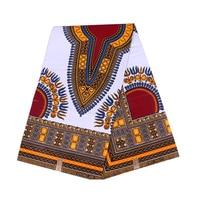 6 yards/pack boho style cotton ankara african batik fabric for clothing woman dress shirt suits head towels