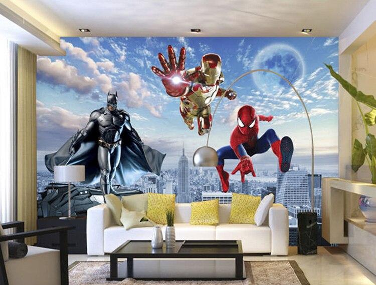 Aliexpresscom Buy Custom 3D Photo wallpaper Batman Iron Man
