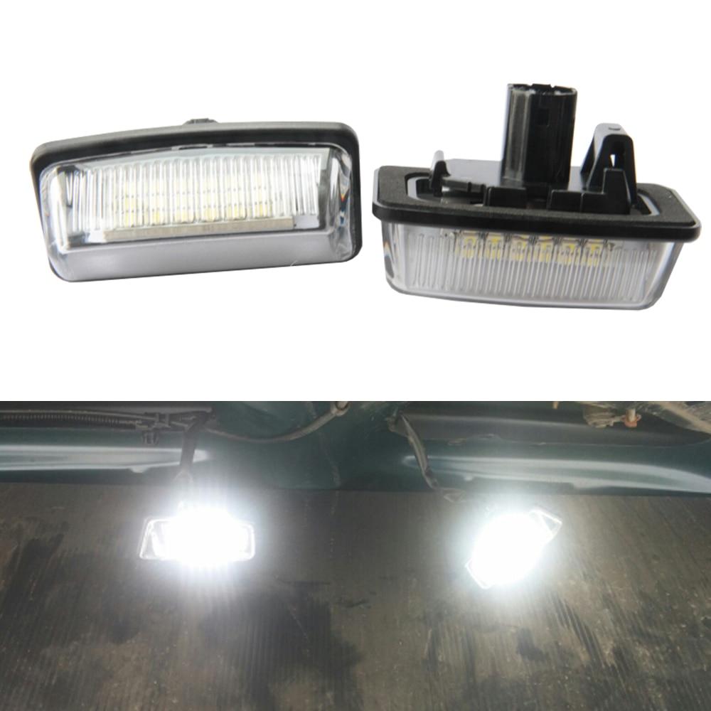 Canbus Auto LED anzahl License Platte Licht 12 v SMD LED lampe Auto Styling Für Toyota Crown S180 Corolla Vios previa zubehör