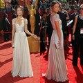 Muestra verdadera Vanessa Gossip Girl Olivia Wilde una línea sin mangas de la gasa de la manga del casquillo de noche vestidos Vintage vestidos de la celebridad