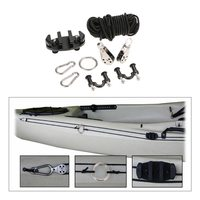 Pad Eye Anchor Trolley Kit for kayak DIY Kayak Anchor Trolley Cleat Kit Set With Nuts Stainless Steel Screws Rivets boat Kayak