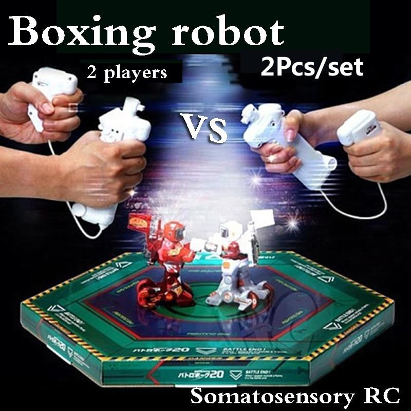 2PCs set RC battle robot 2 players PK Mode Remote Control RC VS Fighting Robot boxing