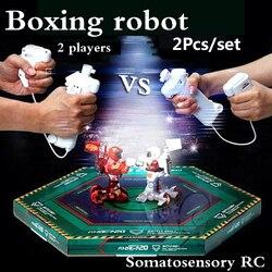 2 шт./компл. RC battle robot и 2 игрока PK режим/пульт дистанционного управления RC VS Fighting Robot boxing Robot игрушки для детей, мужчин, боксерская борьба