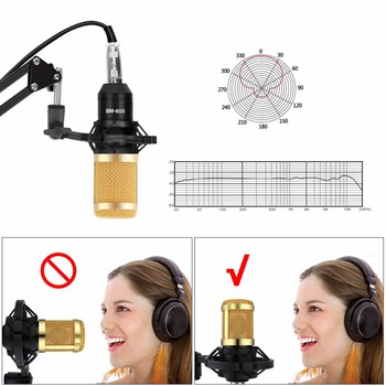 bm 800 Professional Adjustable Condenser Microphone Kits Karaoke Microphone Bundle Microphone for Computer Studio Recording 1