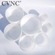 CVNC чакра настроенный Набор из 7 штук матовый кварцевый кристалл поющие чаши 8 «-14»