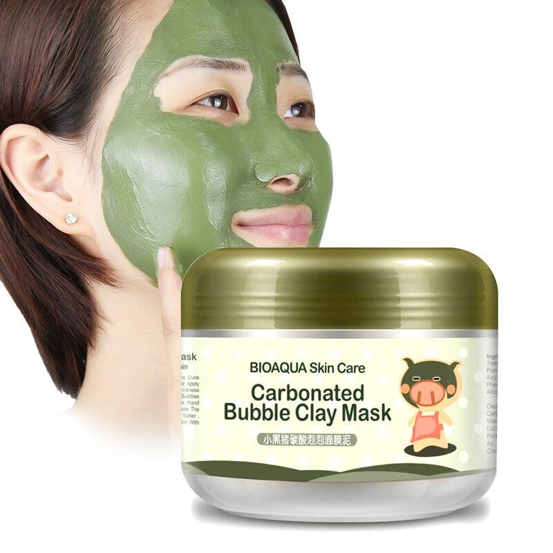 Bioaqua cristalina del cuidado de la piel tratamiento de sueño que blanquea la máscara de hidratación pegatinas limpieza negros removedor de cosméticos máscaras anti envejecimiento