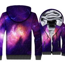 Space Galaxy Hoodies 3D Print Sweatshirts Unisex Hoodie Star Nebula Tracksuit 2018 Autumn Winter Thick Mens Jacket Zi Up Coats