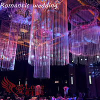 10pcs/lot free shipment Clear Wedding Chandelier Centerpiece Stage Center Event Center Party Theme Decorative Hanging Decoration