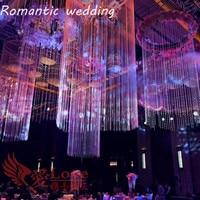 10pcs/lot free shipment Clear Wedding Chandelier Centerpiece Stage Center Event Center Party Theme Decorative Hanging Decoration